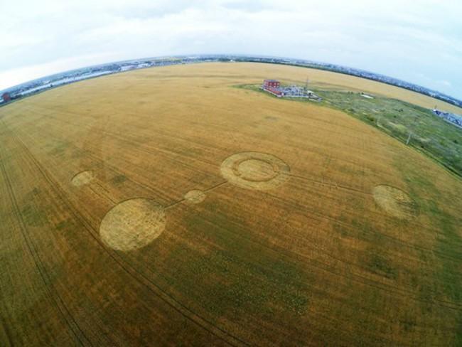 На поле в Тольятти появились очередные таинственные круги
