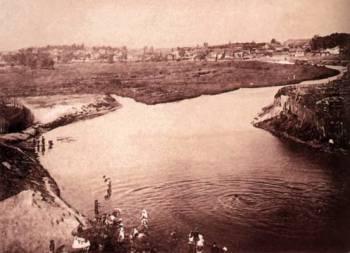 Река Свислочь в начале ХХ в.