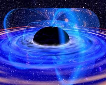 Горизонт событий чёрной дыры. Фото: NASA