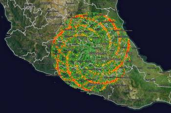 НЛО над Мексикой вызывают гигантские энергетические вихри