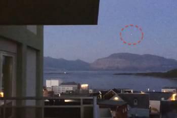 В Норвегии зафиксирован светящийся НЛО