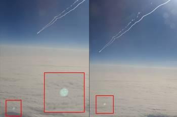 Житель Сиэтла из иллюминатора самолета сфотографировал НЛО