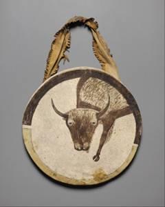 Щит из сыромятной кожи, ок 1850 г.,
