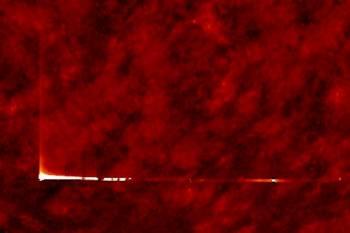 Уфолог зафиксировал яркую полосу на поверхности Солнца