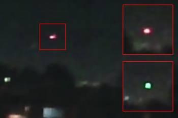 Пилот ВВС Мексики снял на видео шесть меняющих цвет НЛО
