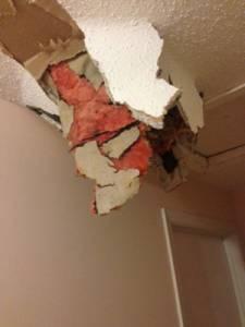 В Оттаве что-то пробило крышу и потолок в доме