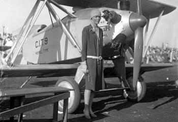 Амелия Эрхарт, Лос-Анджелес, 1928 год.