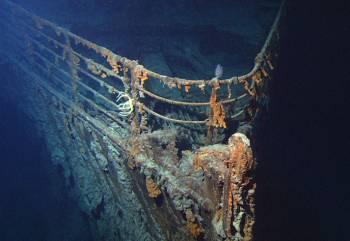 «Титаник» на дне океана.