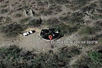 Уфолог обнаружил в пустыне Аризона черный диск НЛО