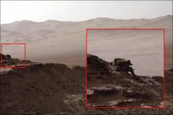 Уфолог обнаружил на Марсе объект, похожий на механического робота