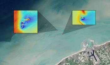 Поиск затонувших кораблей с помощью спутников.