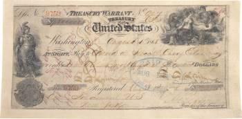 Чек на 7,2 млн долларов США, предъявленный для оплаты покупки Аляски.