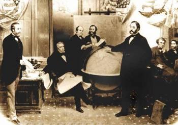 Подписание договора о продаже Аляски 30 марта 1867 года.