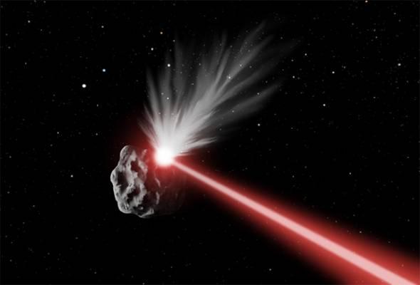 Корректировка траектории астероида (в представлении художника)