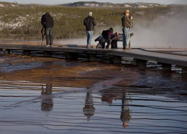 Кипение реки парка Йеллоустоун вызывает опасения