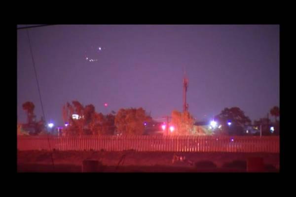 Сразу несколько НЛО замечено над Сан-Диего