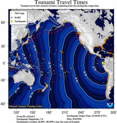 Всю территорию США трясет из-за землетрясения в Эквадоре