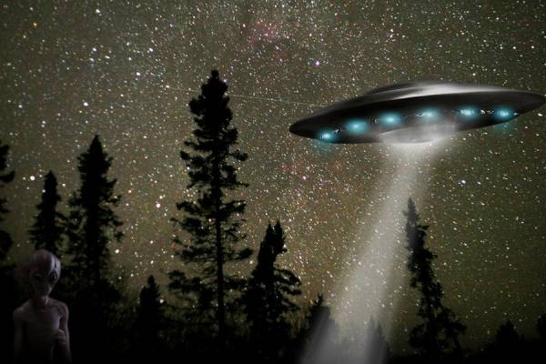Пара засняла НЛО над Озоной