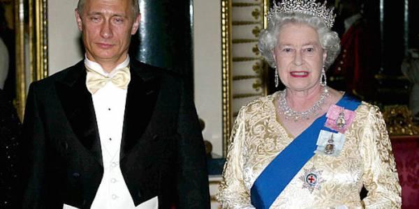 """Президент Путин заявляет, что королева Елизавета """"не человек""""?"""