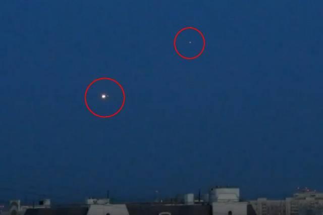 В Москве над Савеловской автострадой зафиксированы два НЛО