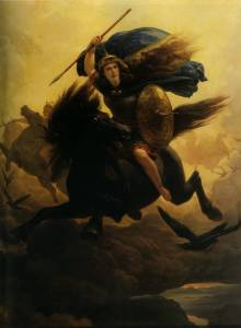 «Валькирия» норвежского живописца Петера Арбо (1864).
