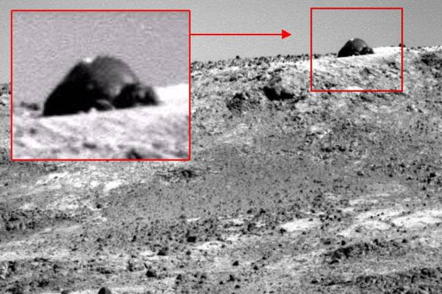 Уфолог обнаружил на Марсе необычное формирование